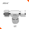 SS316 Pipe Fitting Compression Hydraulic Equal Tee Tube Fitting