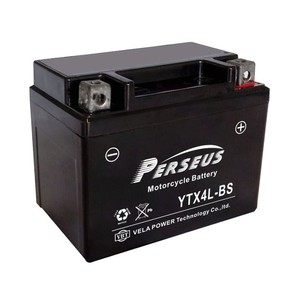 YTX4L-BS Wet-charged MF Battery for Motorcycle 12v4ah