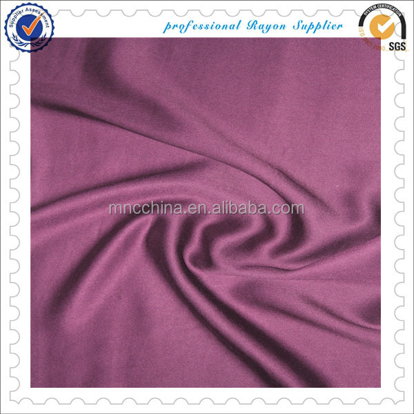 MR16050JD best selling 100% rayon woven satin dyed fabric