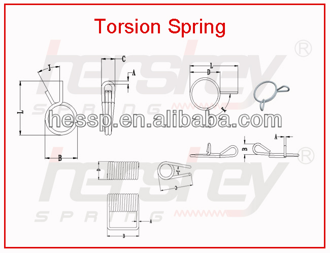 torsion spring use for washing machine, torsional spiral spring supplier