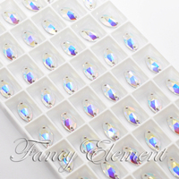 Swarovski Elements For Women 12x6mm Clear AB(001AB) Navette Sew On