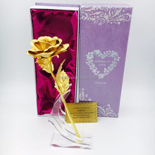 25cm 24K rose flower Dipped in pure Gold The creative gold foil <strong>craft</strong>