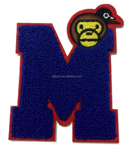 Customized sew on embroidery jacket felt letters chenille patch