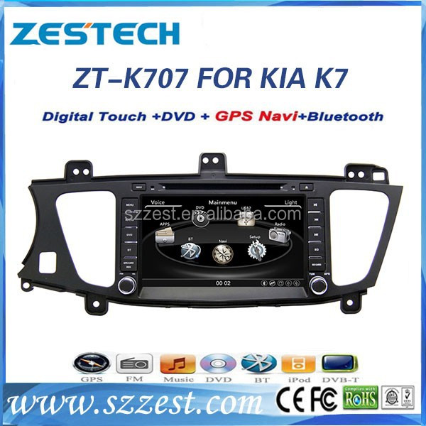 ZESTECH Hot Product car dvd player for Kia k7 with gps bluetooth radio tv