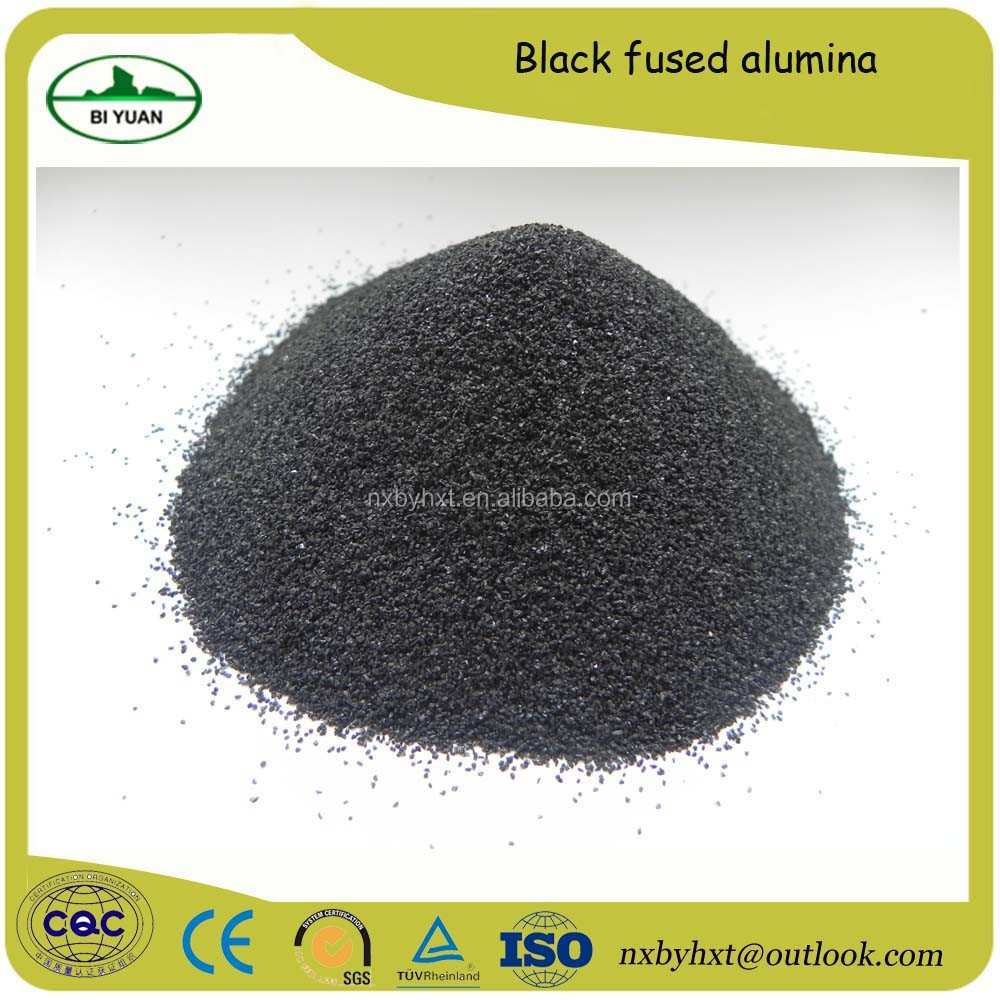 For unshaped refractory castable application Black fused alumina