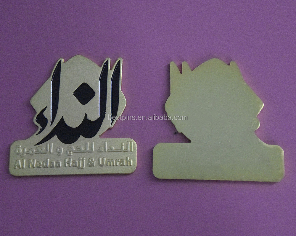 personalize metal hand bag metal name plate badge made in china