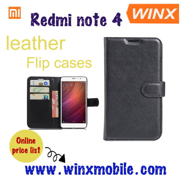 mobile flip cover for Xiaomi redmi note 4 note 3 , custom leather phone case for Xiaomi
