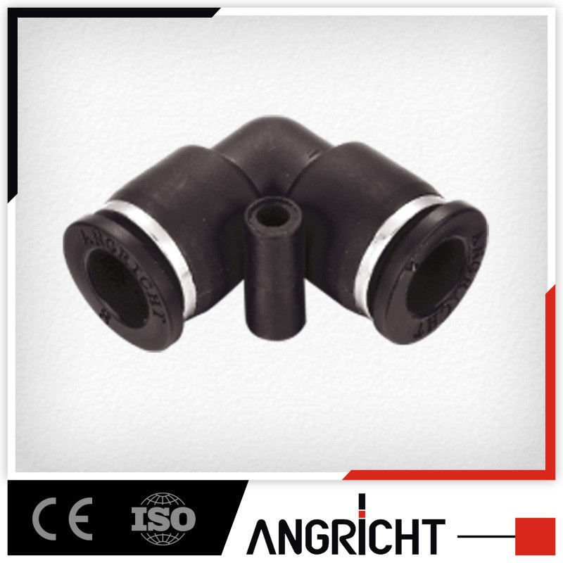 A103 black 3 way square pvc plastic tube connect fittings elbows