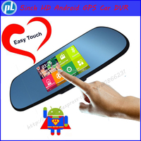 New 5 inch Android Rearview Mirror GPS navigation IPS SCREEN Full HD 1080P car dvrs Daul camera video recorder vehicle gps