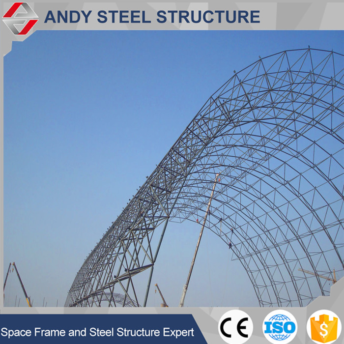 Steel arched dry coal shed gird steel structures at low cost