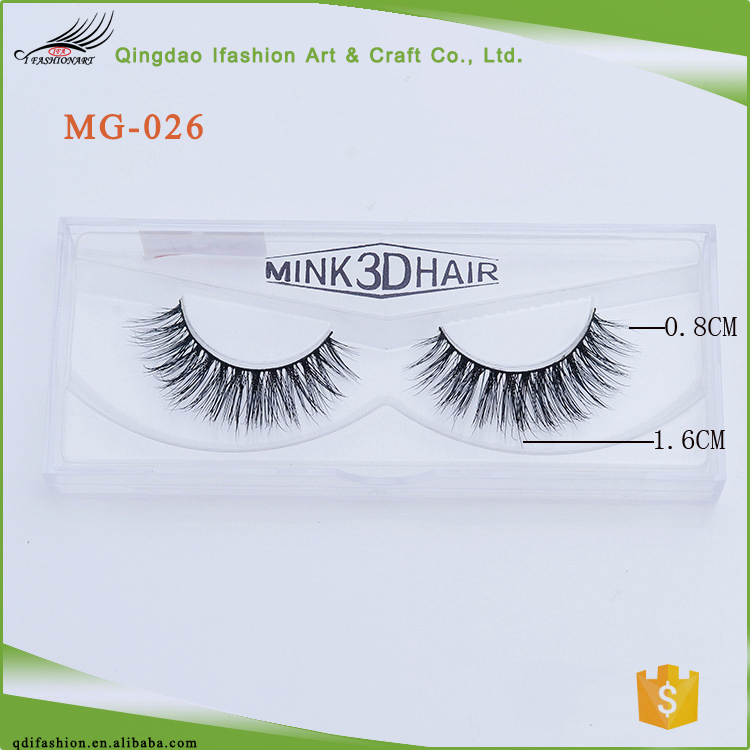 Luxurious Natural Volume Cross Thick Real 3D Mink Eyelashes MG-026