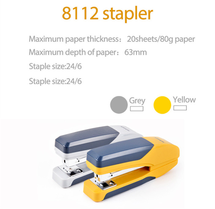 best selling products stationary Tenwin 8112 cute collorful plastic hand stapler