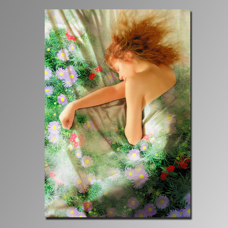 High quality super clear new style modern painting of hot sex girl picture for wall art