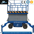 China new products 300kg 12m manually operated trailer hydraulic scissor raising lifting maintenance equipment platform