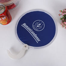 Seline cheap high quality foldable nylon frisbee fan for promotional