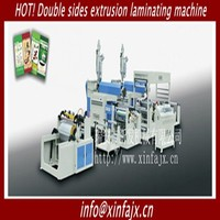 Automatic Dual Extrusion PP PE Coating Laminating machine for plastic-woven bags