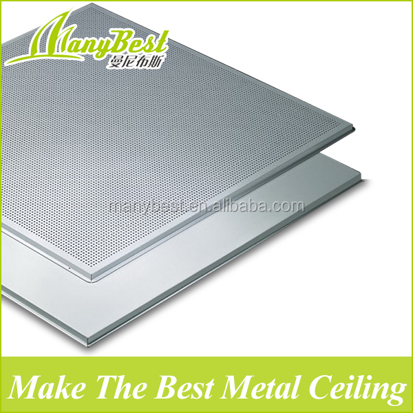 Aluminum types of false ceiling boards for building