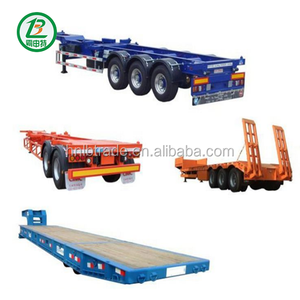 NEW 20Feet Truck Chassis Frame 40FT Skeleton Container Semi Trailer With 60 Tons Capacity
