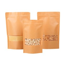 2oz Kraft Paper Zipper Bag With Clear Window