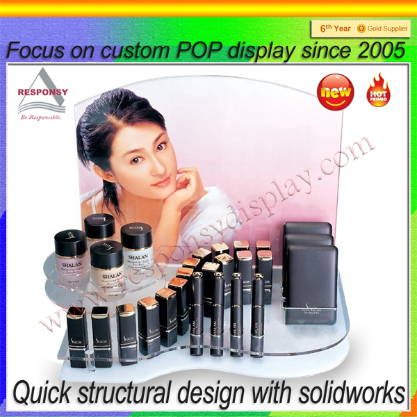 acrylic material shop shelf natural cosmetics display equipment