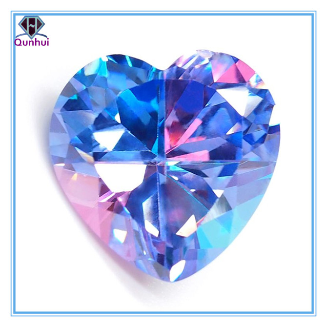 Jewelry multi-color irregular shaped cubic zirconia