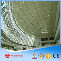 ADTO Group Steel Arched Roof Structure Space Truss For Commercial Super Market Plant Warehouse Workshop