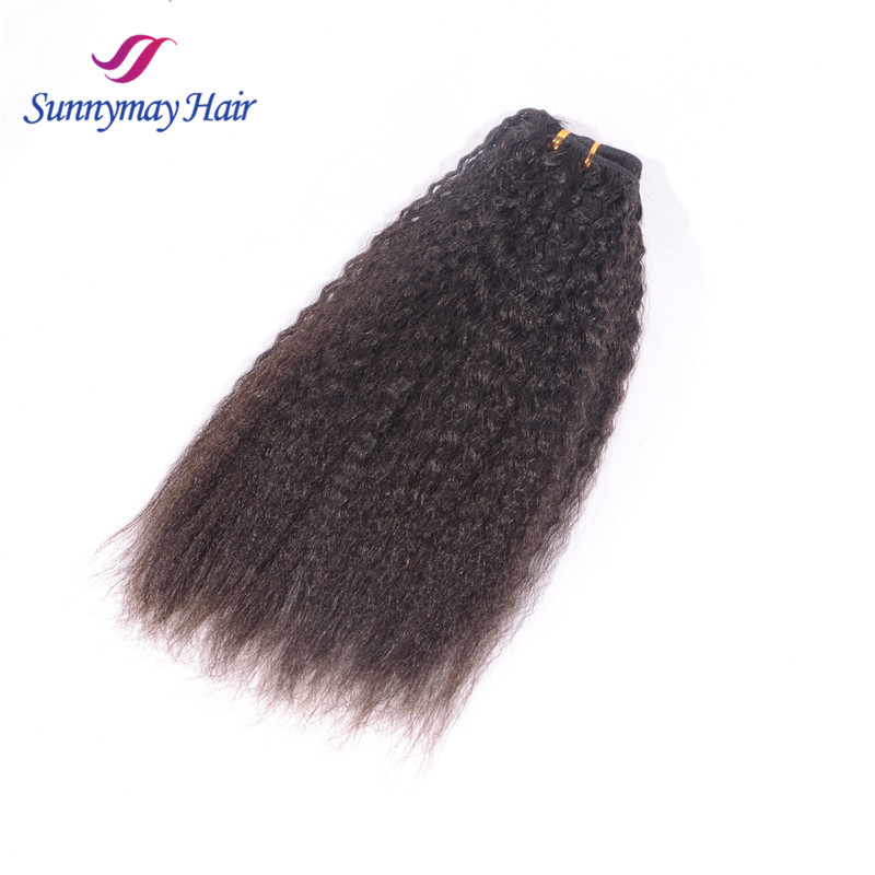 "Wholesale price cheap malaysian hair weave kinky straight yaki hair weave 100g/pc 8-30"" in stock"