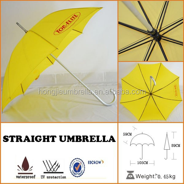 yellow advertising umbrella
