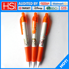 Wholesale cute cartoon printing plastic ball point pen