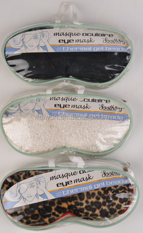 Hot moist micro beads eye mask for puffy eyes