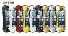 Metal Aluminum Gorilla Glass waterproof shockproof case for iphone 5S