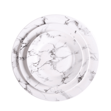 Round White Marble Homeware Ceramic Dinner <strong>Plates</strong> Elegant Wedding Round Marble Cheap Ceramic Dishes <strong>Plate</strong>