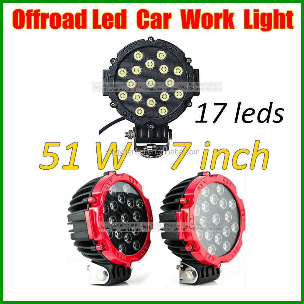 51w outdoor led work light Agriculture machinery LED Work Light for Offroad Truck Jeep ATV 4WD 4X4 Boat Lamp