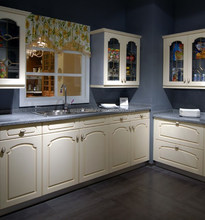 Great Durablity Acceptive & Reasonable Factory Price Modern Style PVC Kitchen Cabinets With Countertop Design