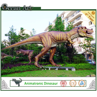 10m long outdoor playground mechanical dinosaur land