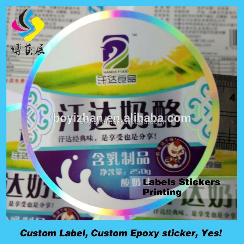 Brand new protein bar private label custom label waterproof label with low price