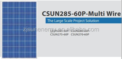 60 Cell famouse CSUN poly 270w solar panel WITH FULL CERTIFICATE