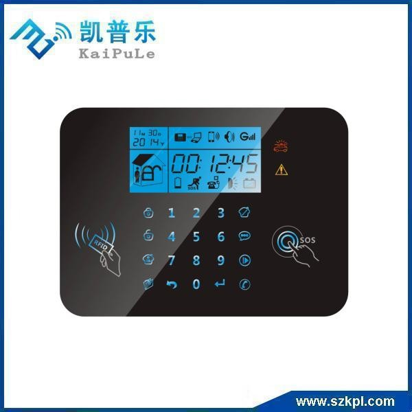 DIY security gsm alarm system touch screen for home security