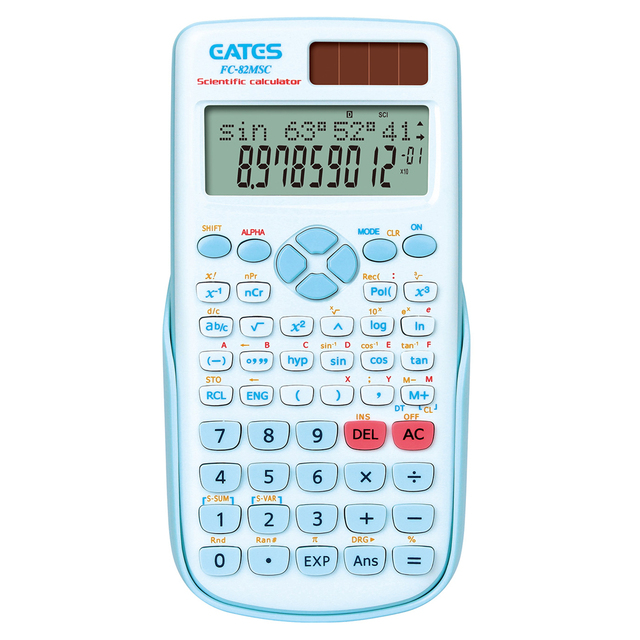 Multifunction student using calculator scientific with double power supply