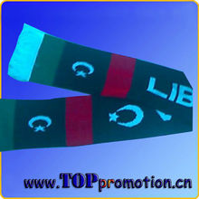 Good quality knitted jacquard national flag scarf country flag scarf