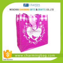Customize Pink Colour Tote PP Woven Bag