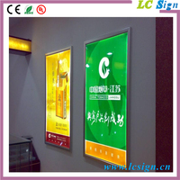aluminum profile led fabric light box advertising poster frame for promotion
