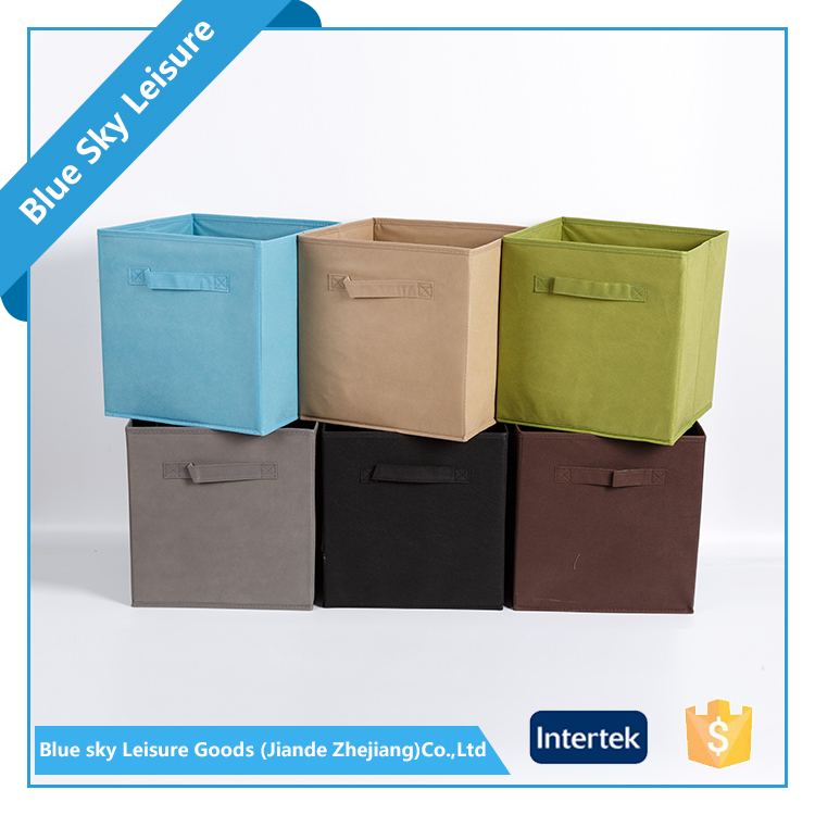 High quality non-woven Stocked,Folding,Eco-Friendly Feature and Sundries Use cube storage organizer