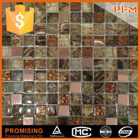 natural material glass mosaic mannequin luxury floor tile