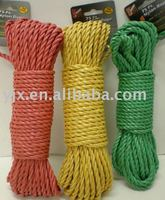 colorful twist nylon cord used in gifts decoration and package