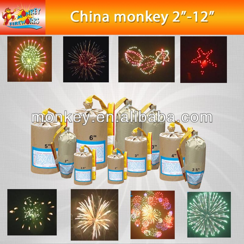 "2"" inch-12"" inch coldprofessional display shells multi color show for new year christmas party fireworks (T9500-2""~12"")"