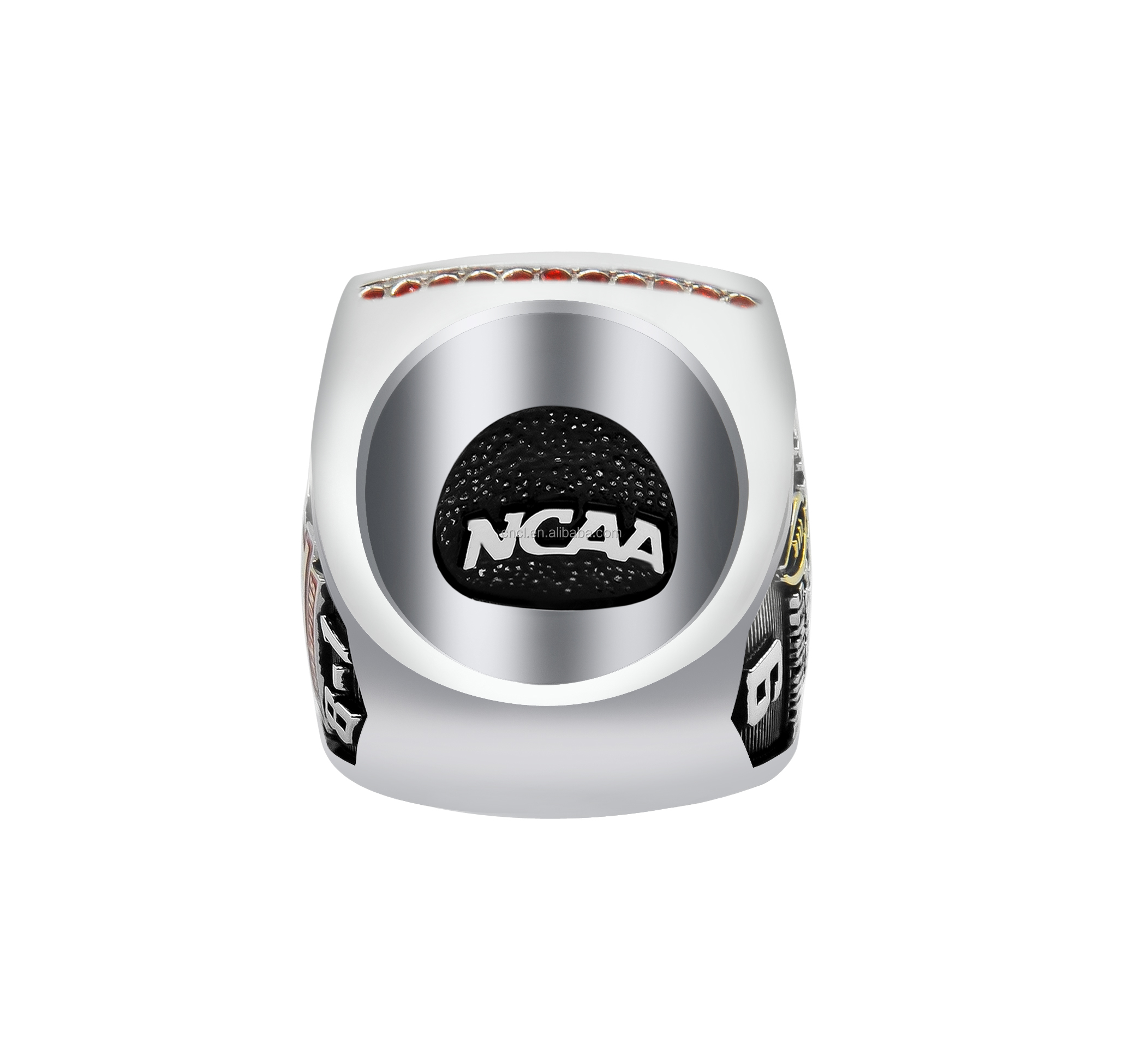 Custom stainless steel fashion football baseball championship college graduation signet rings for men
