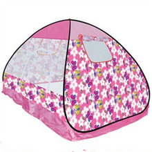 Pink blue colour kids play dome tent