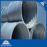 Bolted Connection Nestable Zinc Coating Corrugated Steel Culvert Pipe