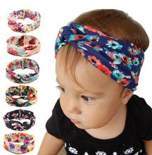 Handmade cotton hair accessories for kids flower elastic head band SH16022 baby girl headband